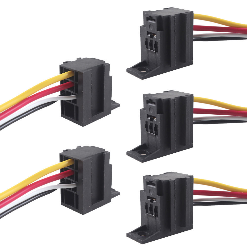 12 Volt Electric Wire Harness Wiring Library Conversion Diagram 1939 Chevy Ee Support 5pcs New Auto Car Motor 12v 30a Amp Duty Relay Socket