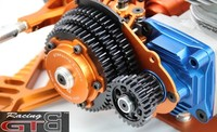 GTB 3 Speed transmission system kit with plastic gear cover for 1:5 HPI KM ROVAN Baja 5B 5T 5SC RC Car Upgrade Part