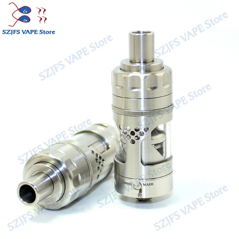 Hurricane RTA Atomizer 23mm Diamete  Adjustable Airflow Tank For 510 Vaporizer 4ml E Cigarette  V2 RBA 316 Stainless  Atomizer