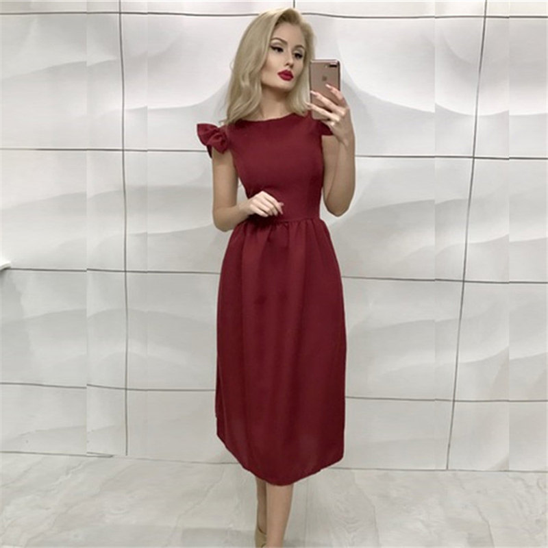 New Arrivals Summer Dress 2018 Women Elegant Bohemian Prom Midi Dress Ruffle Casual Vintage Party Long Dresses Plus Size vestido