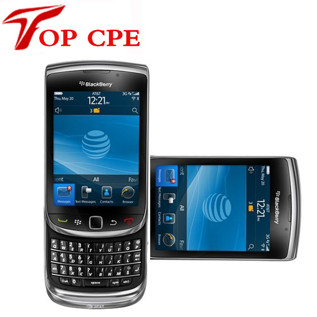 Cheapest original 9800 desbloqueado blackberry torch 9800 gps wifi 3g del teléfono móvil restaurado