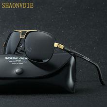 SHAONVDIE Fashion Aluminum Magnesium Polarized Sunglasses Men Sun Glasses UV400 Driving Eyewear oculos Shades 8521