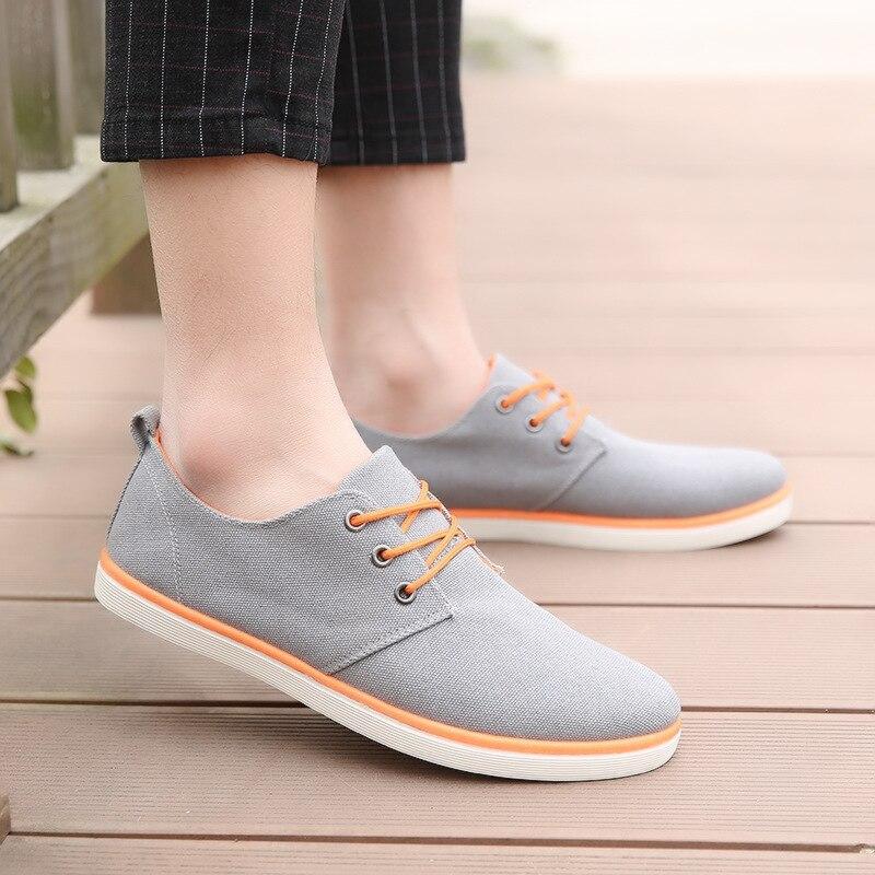 Cbjsho Новое поступление сезон: весна–лето удобная повседневная обувь Для мужчин S парусиновая обувь для Для мужчин на шнуровке брендовые мод... ...