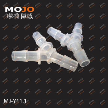 "2020 Free shipping!(100pcs/Lots) MJ-Y11.1 7/16"" PP Three way connectors 11mm Y type hose joint pipe fitting"