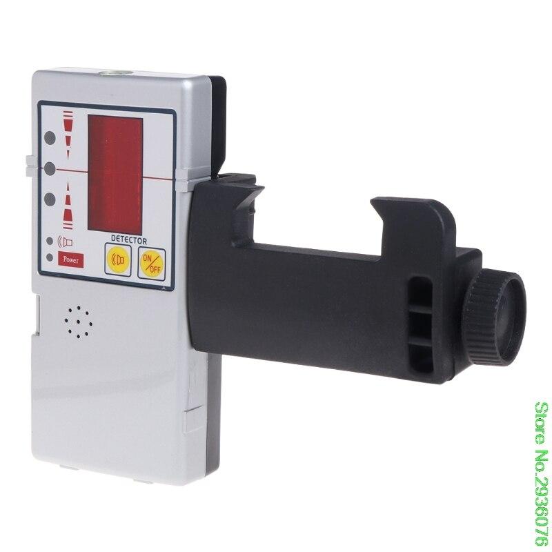 Новое поступление 635nm Совместимость красный луч выравнивания Крест линии лазерный приемник детектор с зажимом Прямая доставка Поддержка