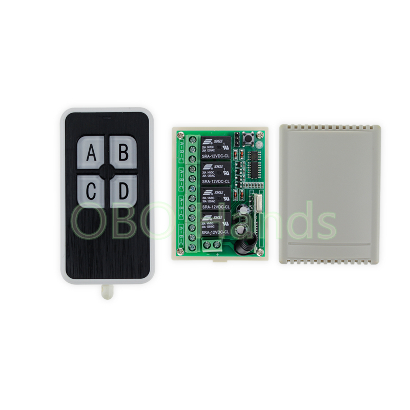 Wireless 315/433MHz 12V 4CH remote control switch+receiver+shell for door lock can control 4 doors up to 50m for door lock-SL34 wireless 315 433mhz 12v 4ch remote control switch receiver shell for door lock can control 4 doors up to 50m for door lock sl34