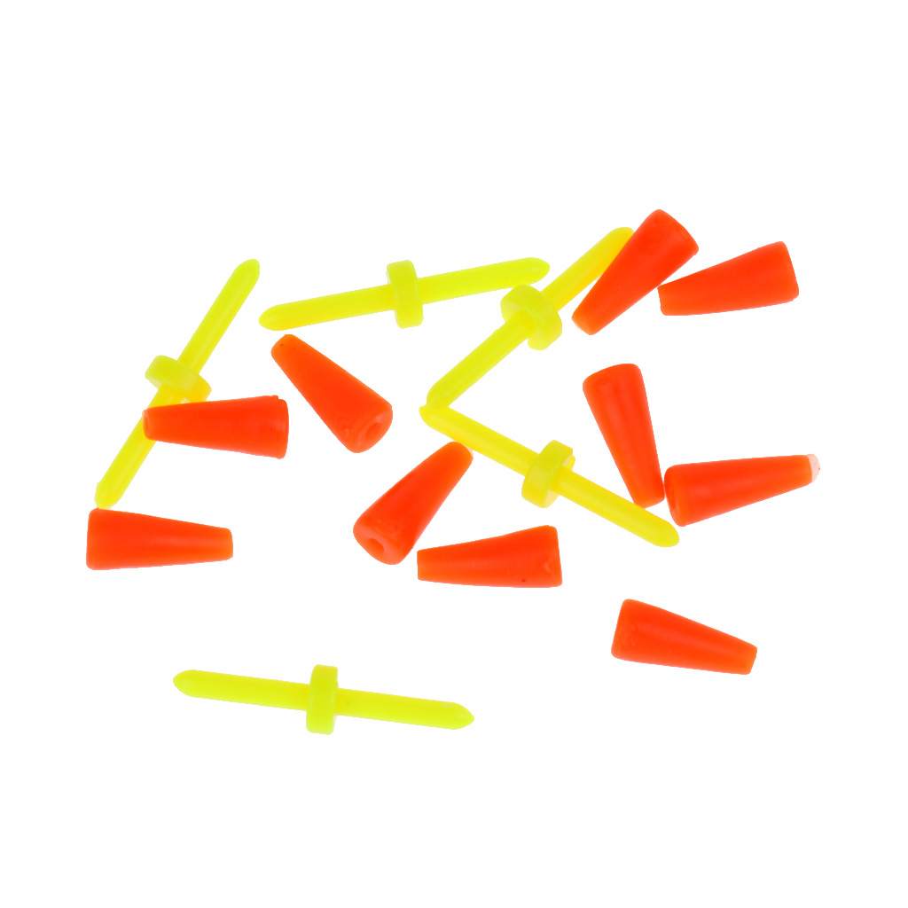 5pcs Fishing Floating Bobber Yellow Plastic Fishing Tackle Float buoy For Fishing Accessories