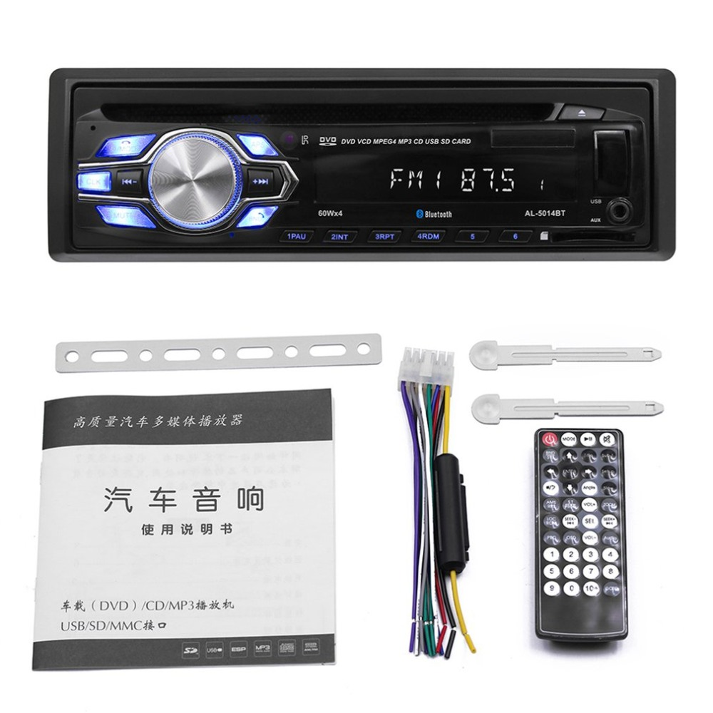 5014BT haute définition universel Double DIN LCD voiture stéréo GPS Sat Navogation 4G Radio lecteur multimédia