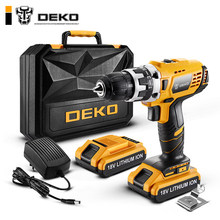 DEKO GCD18DU2 Electric Screwdriver Cordless Drill Wireless Power Driver 18-Volt DC Lithium-Ion Battery 1/2-Inch 2-Speed(China)