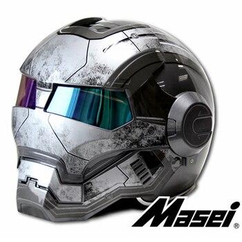 Новый серый MASEI IRONMAN железный человек шлем мотоциклетный шлем ретро Половина шлем открытый шлем 610 ABS шлем мотокросс