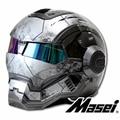 Gris nuevo MASEI IRONMAN de casco de la motocicleta del casco de la retro medio casco de la cara abierta del casco 610 ABS casque de motocross
