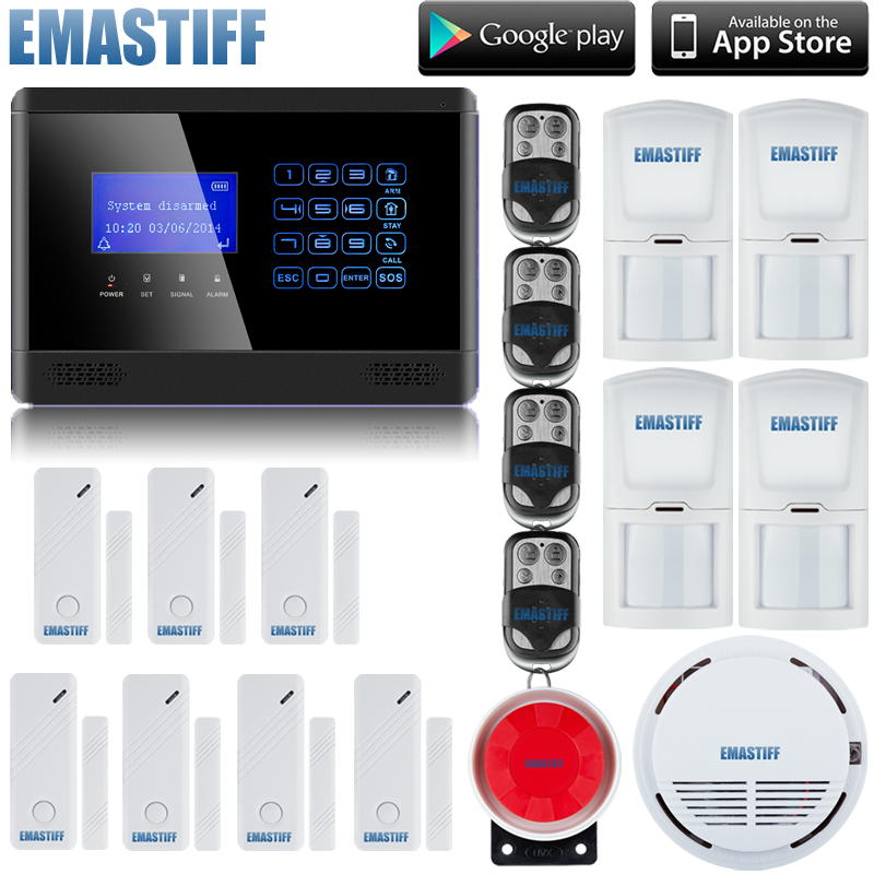 Wireless GSM SMS TEXT Touch Keypad Home House Alarm System Emergency Panic 850/900/1800/1900MHz Free Shipping+smoke sensor yl 007m2g touch keypad gsm sms wireless home security burglar alarm system rfid access control 850 900 1800 1900mhz 433mhz