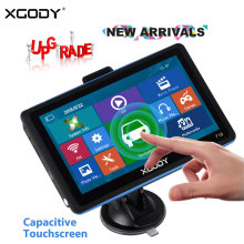 цены XGODY 718 7 Inch Car GPS Navigation 128M+8GB FM Touch Screen Sat Nav Truck Navigator Reverse Wireless Camera Navitel Europe Map