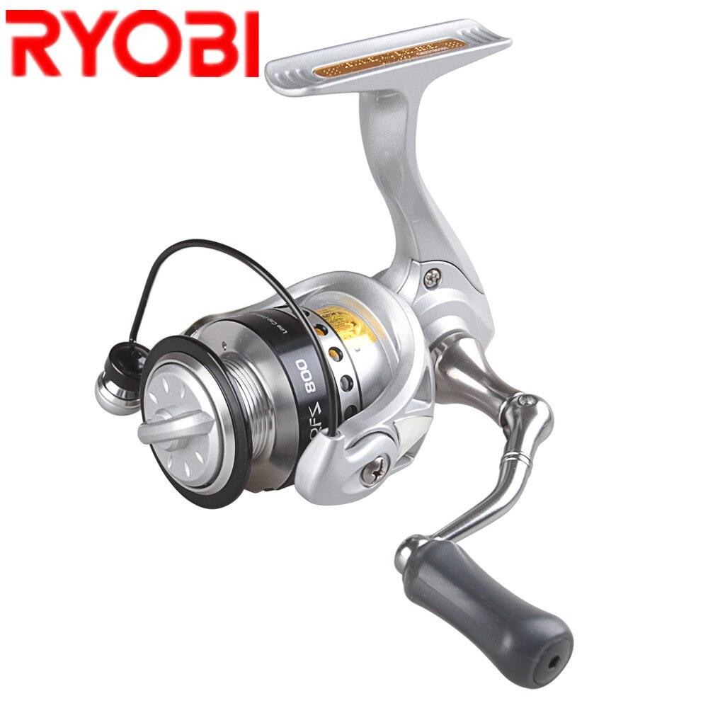 RYOBI 500 800 Spinning Reel 5,2: 1 3 + 1BB Metall Spool Angeln Reel Salzwasser Molinete Para Pesca Carretilhas De Pescaria Karpfen Spule