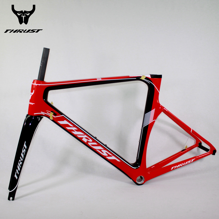 Carbon Road Frame Road Bicycle Frame set Fork Headset Seat post Clamp Racing Bicycle Carbon Bike Frame 48 50 52 54 56 9 Colors цена и фото