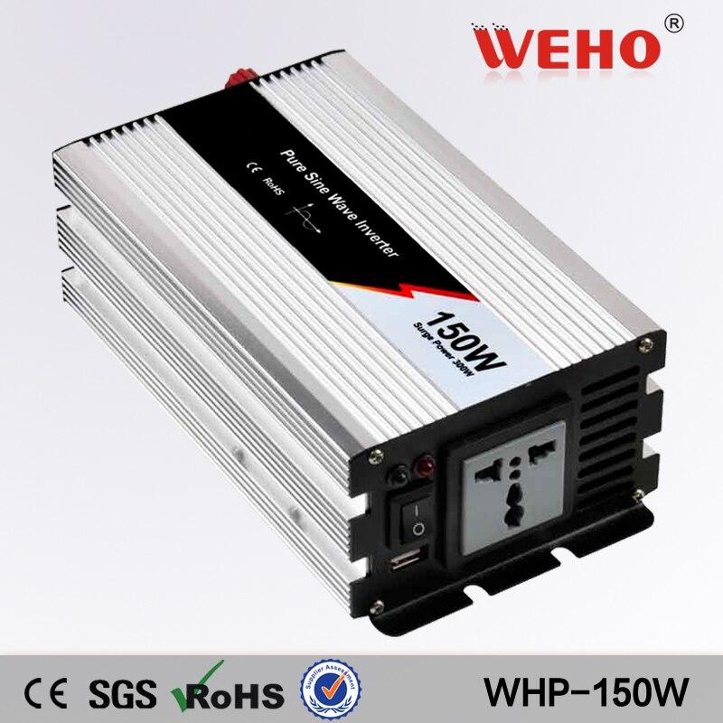 ФОТО (WHP-150) 150W Pure Sine Wave Power Inverter Converter 12V DC to 110V AC 300 Watt Peak