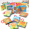 11x11CM Baby Toys Washable Cloth Books with hook Rustle Sound Infant Educational Rattle Toy Crib Bed Baby Toys 0-12 month