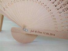 100PCS Folding Hand Fan Personalized Wedding Favor