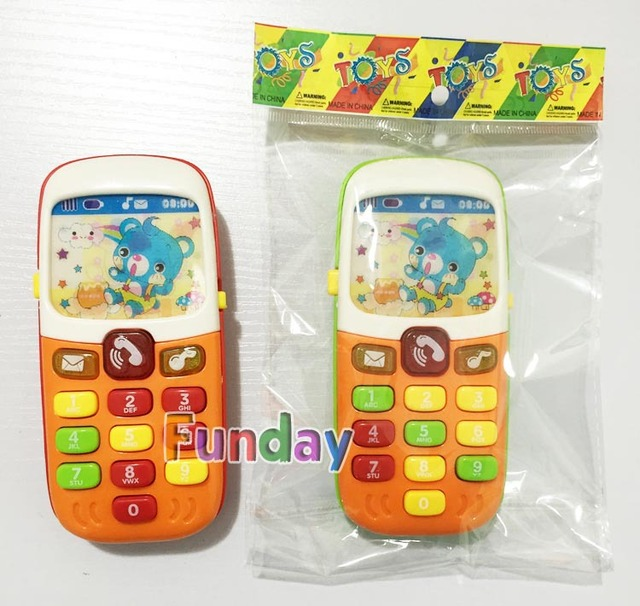 Electronic Toy Phone Kid Mobile Phone Cellphone Telephone Educational Learning Toys