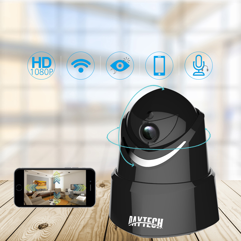 DAYTECH 2MP IP Camera 1080P Wireless WiFi Home Security Camera P2P Network Baby Monitor Video Two Way Audio Night Vision IR wifi ip camera 960p hd ptz wireless security network surveillance camera wifi p2p ir night vision 2 way audio baby monitor onvif