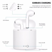 10pcs/lot i7s TWS Wireless Headphones Bluetooth Earphone Stereo Earbud Headset With Charging Box Mic For All Smart phone