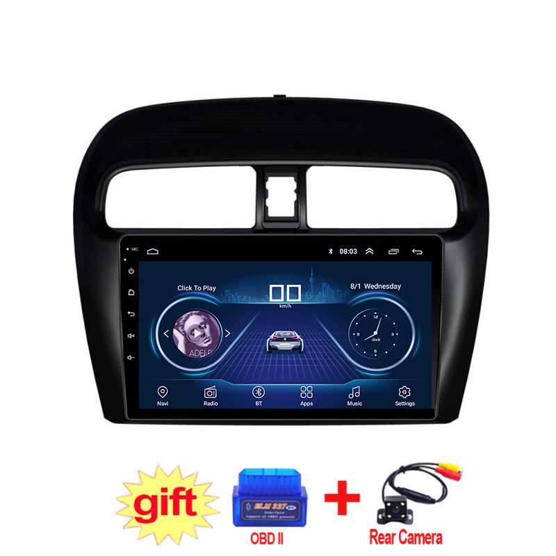 9inch IPS and 2.5D Touch Screen Android 8.1 Car DVD GPS Navigation for Mitsubishi mirage attrage Radio Audio Stereo