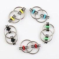 50pcs Metal Classic Key Ring Hand Fidget Spinner 3cm Spincube Anti Press Key Ring Finger Spinner
