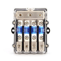 1PCS Universal Car Auto Vehicles Audio Amplifier 1 In 4 Ways Out Fuse Holder Fuse Box