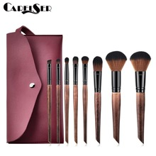 CARELSER 8Pcs new professional makeup brush set liquid foundation eye shadow cosmetic soft synthetic hai