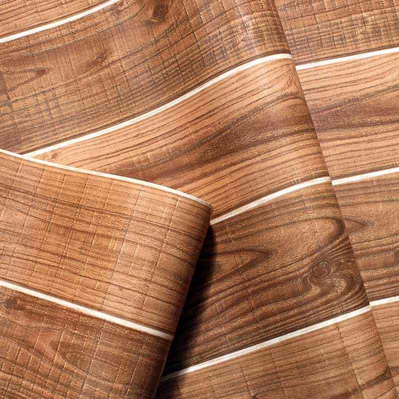 Vintage Wood Wallpaper PVC Waterproof 3D Modern Design Wall Covering Wooden Plank Wallpaper For Bedroom Living.jpg q50