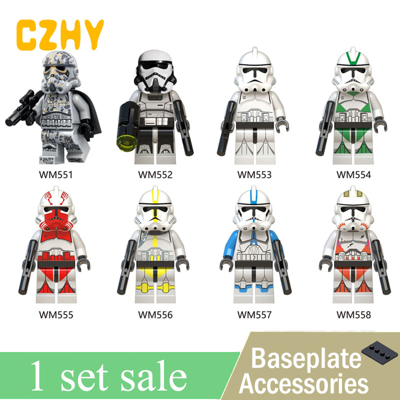 New Clone Trooper Army Clone Mimban Troop Robot Action Figures Building Blocks Toys For Christmas Gifts WM6036 цена