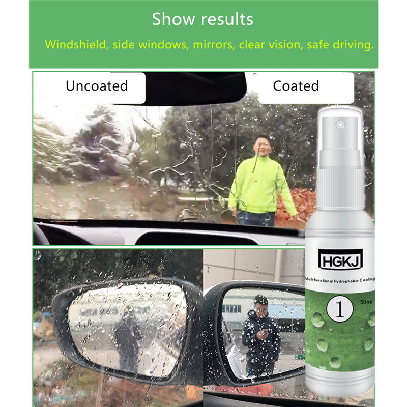 Car Wash & Maintenance Universal Uniform Stable Durable Multifunctional Car Nano Glass Hydrophobic Coating Rainproof Agent For Care Maintenance Clients First
