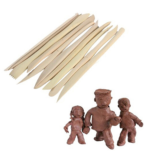 New arrival! 10 Pieces ABS Shaping Clay Sculpture Pottery Play Dough Carving Modeling To ...