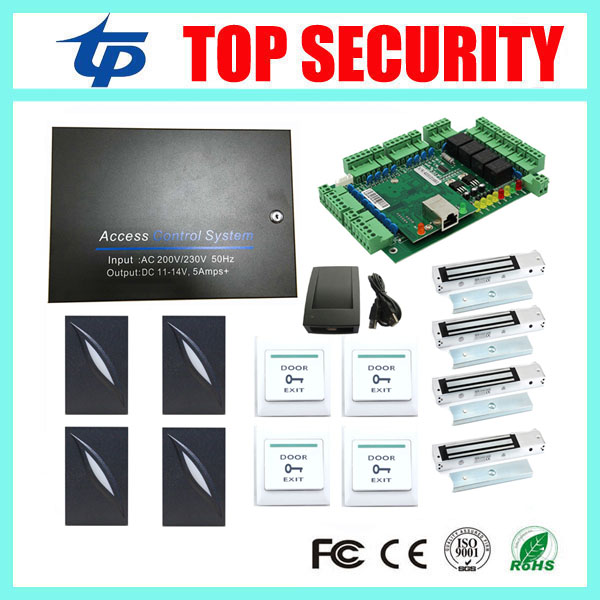 Free shipping L04 door access control system 4 doors access control panel with all accessories