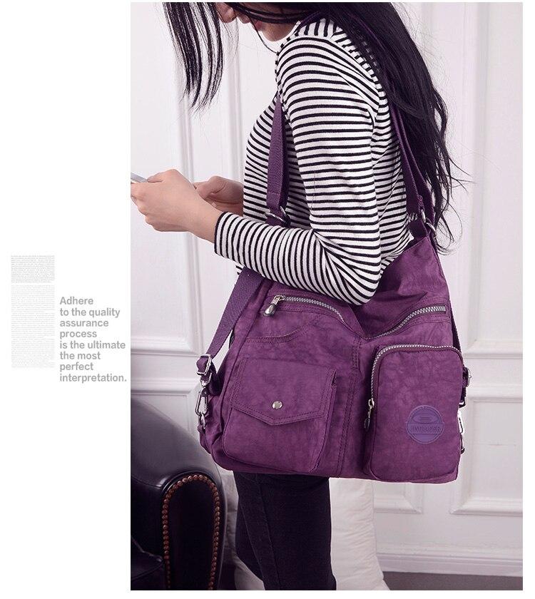 HTB1kEM.boLrK1Rjy1zbq6AenFXaD Nylon Women Backpack Natural School Bags for Teenager Casual Female Preppy Style Shoulder Bags Mochila Travel Bookbag Knapsack
