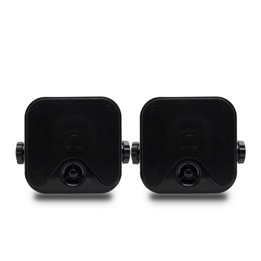 Herdio 100W 4 Inch Compact Waterproof Bluetooth Marine Stereo Box Speaker for Boat ATV UTV Heavy Duty Powersports Vehicles Courtyard