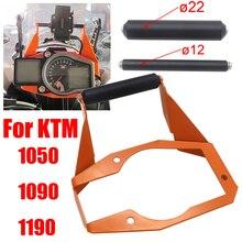 Suporte de celular para motocicleta, suporte para celular com gps, placa de suporte para ktm 1050 1090 1190 adventure adv