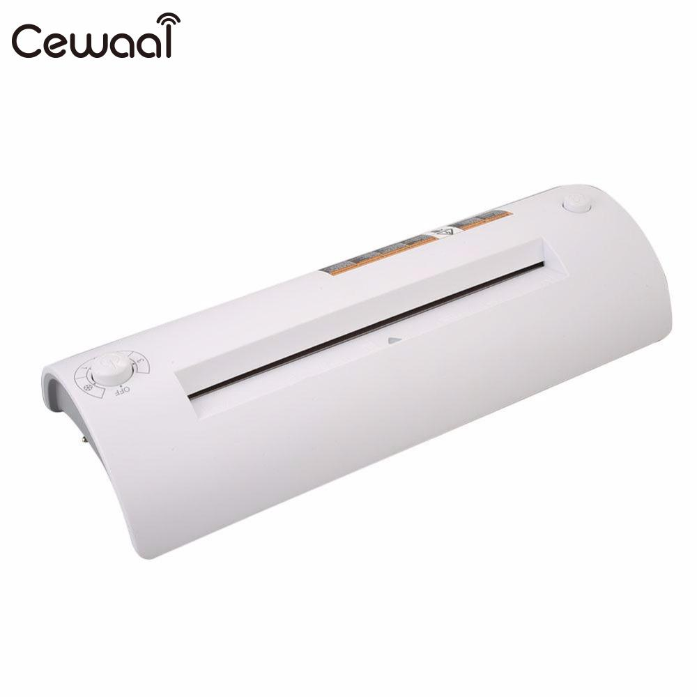 Cewaal 2017 CLA403L A4 Photo Laminator Paper Film Document Thermal Hot&Cold Laminator Machine System Laminator Home Roll cewaal cla402 a4 document photo hot