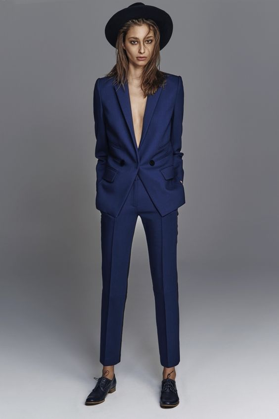 CUSTOM MADE Women Business Suits Formal Office Suit Work Ladies Elegant Pant Suits For Weddings Tuxedo Blazer Trousers Suit W46