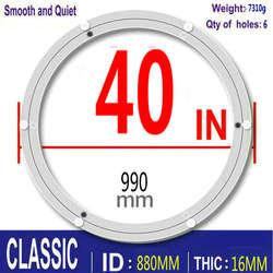 HQ классический 40 дюймов мм 990 мм OD приглушенный и гладкий алюминиевый сплав Lazy Susan поворотная пластина для большого обеденного стола