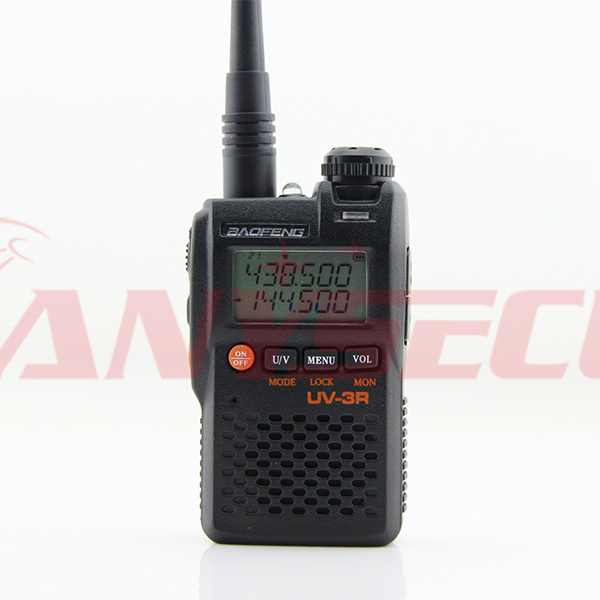 Free Shipping Bao Feng Uv 3r Black Portable Walkie Talkie VHF 136 174 UHF 400 470