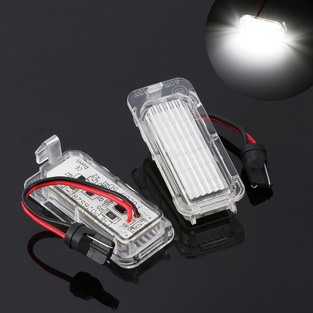 2X auto light led license plate frame light tail light car styling fit For Ford Focus 3 C MAX S MAX Mondeo 4 Galaxy KUGA /7903