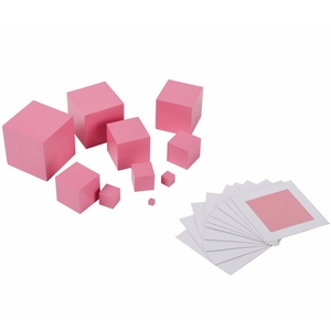 Image 2 - High Quality Wooden Montessori Mathematics Toys Pink Tower Solid Wood Cube 0.5 7cm Early Preschool Educational Children Day Gift