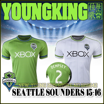 info for 79abf 6fea1 US $16.0 |2016 Seattle Sounders Soccer jersey 15 16 Major League Soccer  Seattle Sounders home away football shirt DEMPSEY ALONSO PAPPA-in Soccer ...