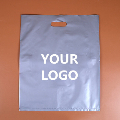 500pcs/lot Custom logo High quality plastic shopping Bags,plastic jewelry pouch Packing Gift Carrier Bags, 15 colors to choose