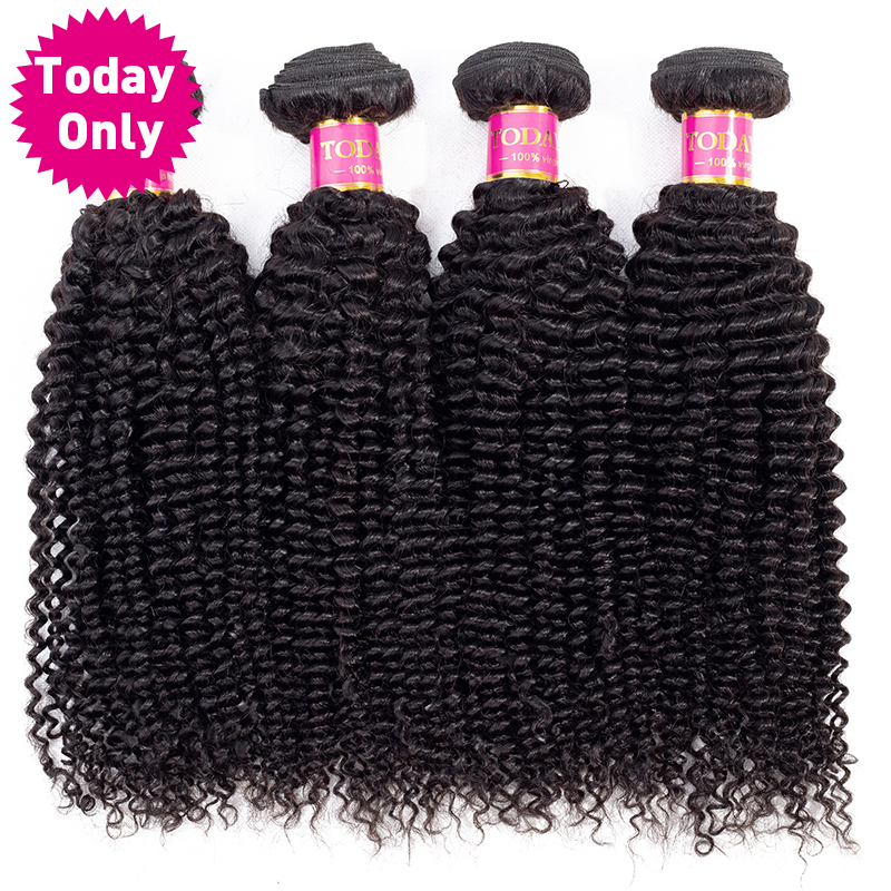TODAY ONLY 4 Bundles Deals Deep Curly Brazilian Hair Weave Bundles Remy Human Hair Extensions Brazilian Curly Human Hair Bundles