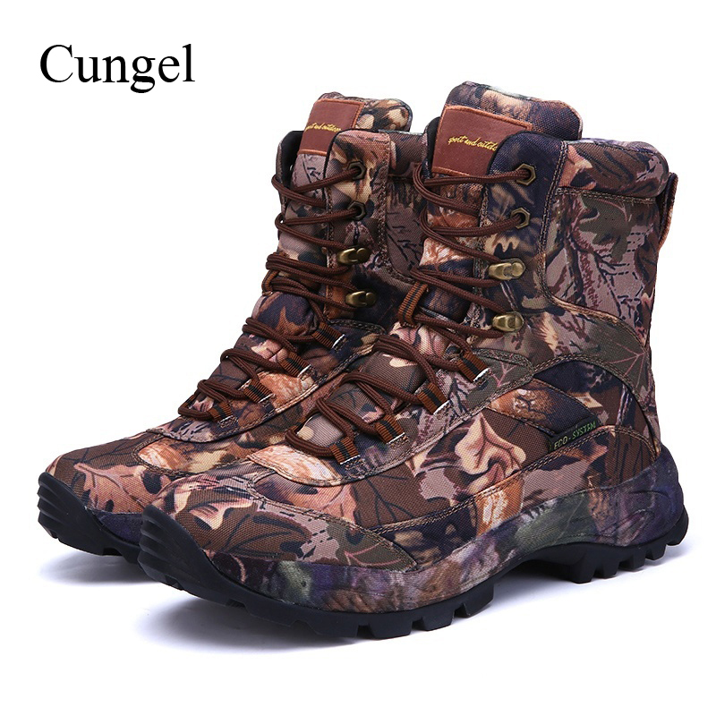 Cungel Outdoor Sneakers men Army camouflage boots Trekking Hiking shoes Waterproof Anti-skid Tactical boots Mountain climbing автомобильные колонки pioneer ts g1320f