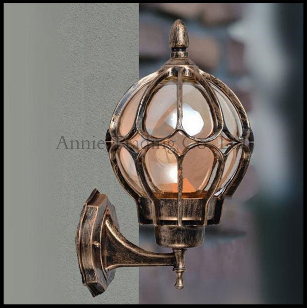 buy european wall lamp outdoor lights villa balcony garden lamps lighting retro iluminacion. Black Bedroom Furniture Sets. Home Design Ideas