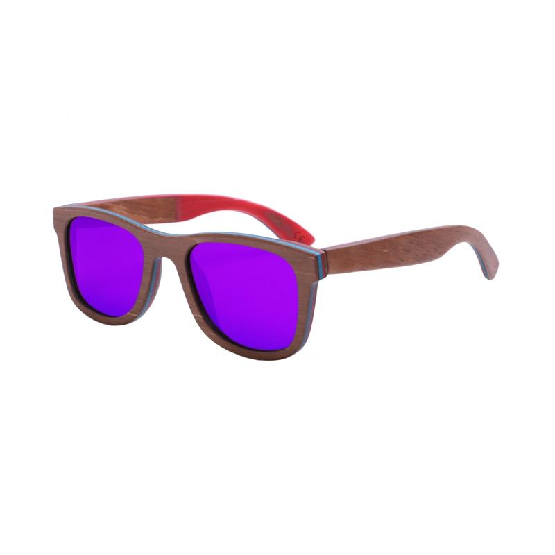 Skateboard ხის სათვალეები ახალი ჩამოსვლისგან პოლარიზებული ხელნაკეთი ორიგინალური ხის სათვალე სათვალე მეგობრებისათვის, როგორც საჩუქრები Dropshipping
