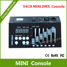 DHL Free Shipping 54CH mini dmx controller console dj console dj controller DJ lighting controller 9V battery / 12V DC powered